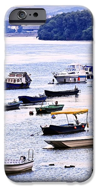 Serbia iPhone Cases - River boats on Danube iPhone Case by Elena Elisseeva