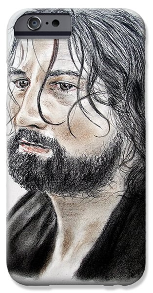 Robert De Niro Drawings iPhone Cases - Robert De Niro in The Mission iPhone Case by Jim Fitzpatrick