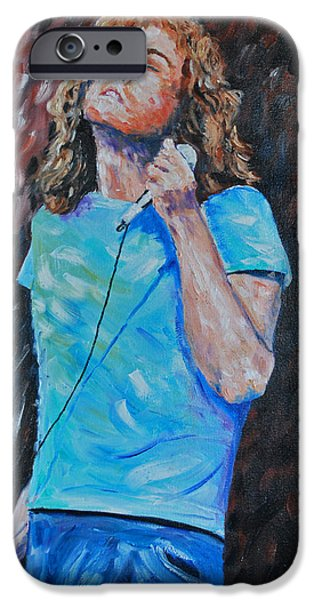 Robert Plant Paintings iPhone Cases - Robert Plant iPhone Case by Stanton Allaben
