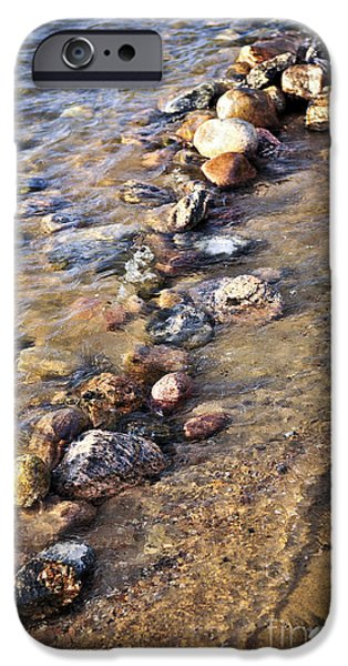 Rocks in water iPhone Case by Elena Elisseeva