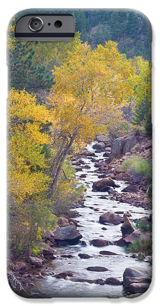 Fall iPhone Cases - Rocky Mountain Golden Canyon Scenic View iPhone Case by James BO  Insogna