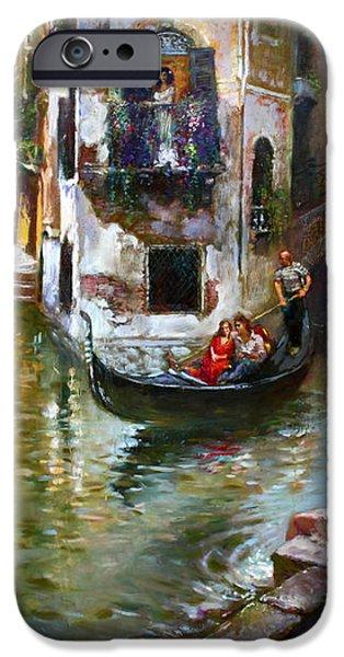 Romance in Venice iPhone Case by Ylli Haruni