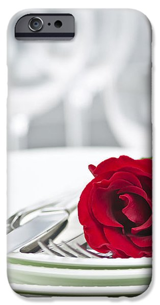 Romantic dinner setting iPhone Case by Elena Elisseeva
