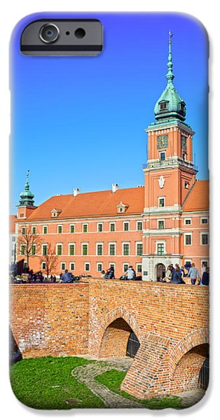 Polish Culture iPhone Cases - Royal Castle in Warsaw iPhone Case by Artur Bogacki