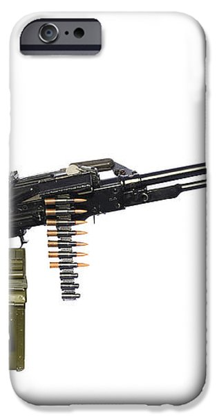 Russian Pkm General-purpose Machine Gun iPhone Case by Andrew Chittock