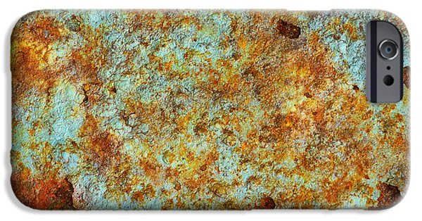 Vandalize Photographs iPhone Cases - Rust Colors iPhone Case by Carlos Caetano