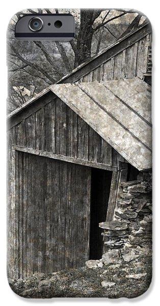 Rustic Hillside Barn Closeup iPhone Case by John Stephens