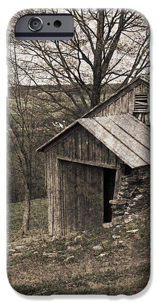 Rustic Hillside Barn Pasture iPhone Case by John Stephens