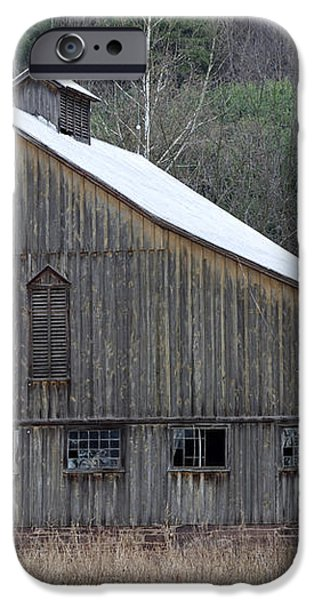 Rustic Weathered Mountainside Cupola Barn iPhone Case by John Stephens