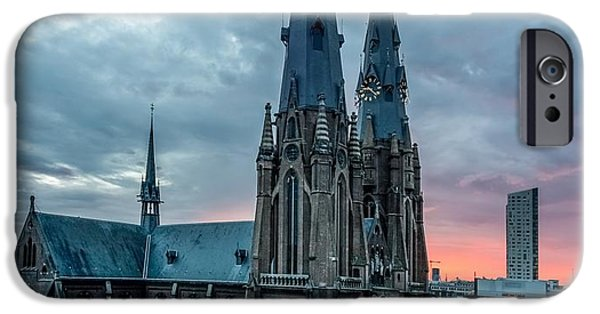 Saint Catherine iPhone Cases - Saint Catherina Church in Eindhoven iPhone Case by Semmick Photo