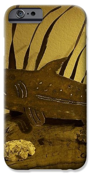 Salmon on Driftwood iPhone Case by JP Giarde