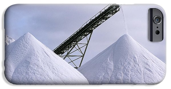 Conveyor Belt iPhone Cases - Salt Pan Industry iPhone Case by Tony Camacho