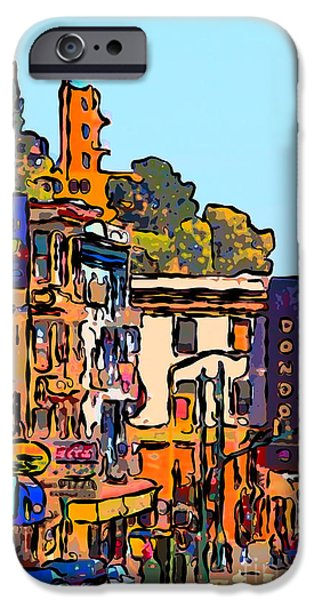 Big Al iPhone Cases - San Francisco Broadway iPhone Case by Wingsdomain Art and Photography