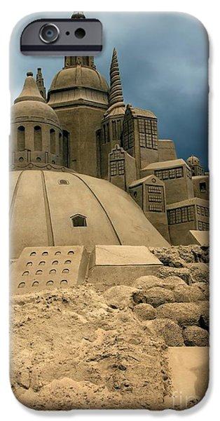 Sand Castles Photographs iPhone Cases - Sand Castle iPhone Case by Sophie Vigneault