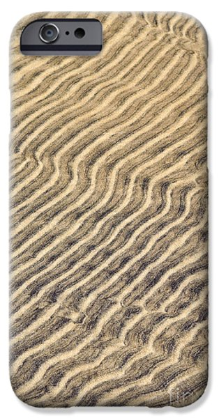 Sand iPhone Cases - Sand ripples in shallow water iPhone Case by Elena Elisseeva