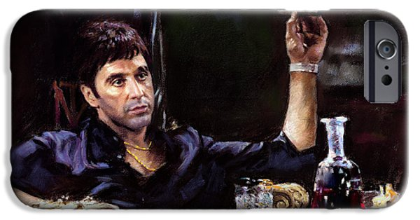 Al Pacino iPhone Cases - Scarface iPhone Case by Ylli Haruni