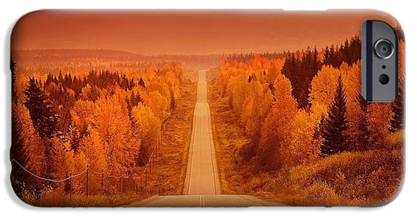 Destiny iPhone Cases - Scenic Highway iPhone Case by Con Tanasiuk
