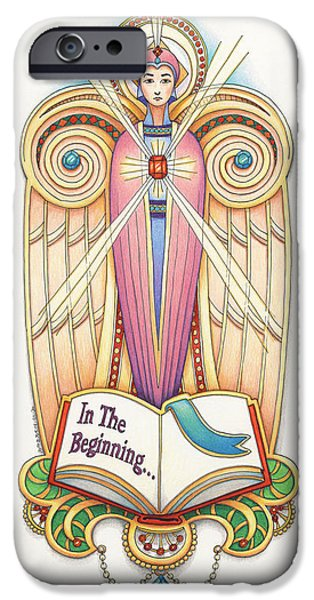 Scroll Angel - Ionica iPhone Case by Amy S Turner