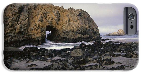Pfeiffer Beach iPhone Cases - Sea Arch At Pfeiffer Beach Big Sur iPhone Case by Tim Fitzharris