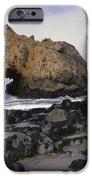Sea Arch At Pfeiffer Beach Big Sur iPhone Case by Tim Fitzharris