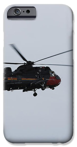 Sea King Helicopter Of The Belgian Army iPhone Case by Luc De Jaeger