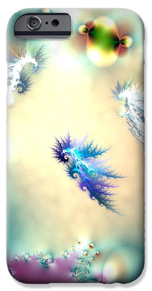 Fish Mixed Media iPhone Cases - Seahorse Nursery iPhone Case by Sharon Lisa Clarke