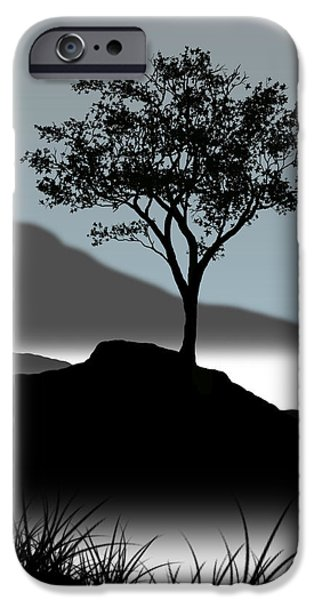 Single iPhone Cases - Serene iPhone Case by Chris Brannen