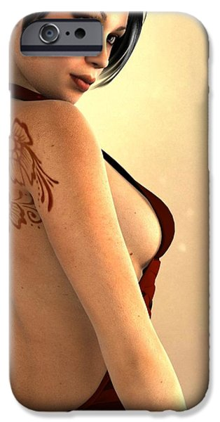 Female Body Digital Art iPhone Cases - Sexy Back iPhone Case by Alexander Butler