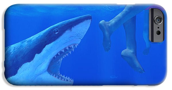 Shark iPhone Cases - Shark Attack iPhone Case by Chris Butler