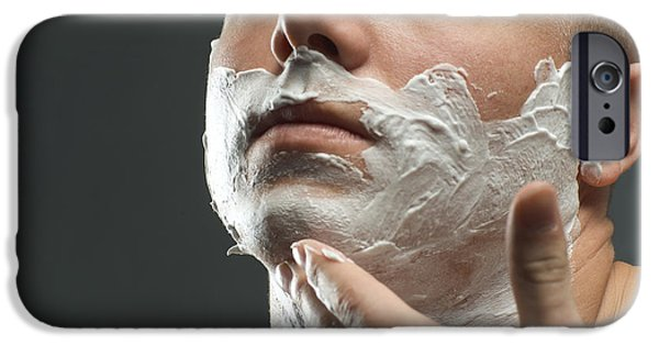 Personal-development iPhone Cases - Shaving Foam iPhone Case by Coneyl Jay