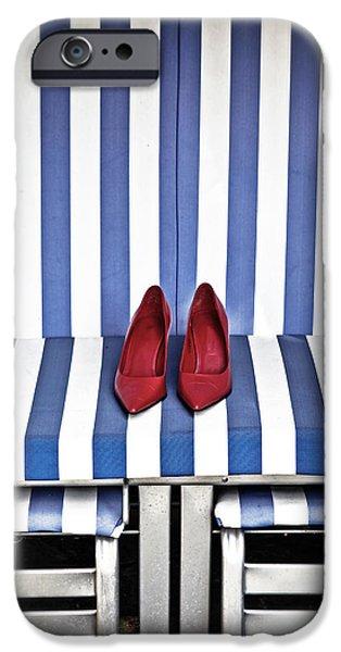 Beach Chair iPhone Cases - Shoes In A Beach Chair iPhone Case by Joana Kruse