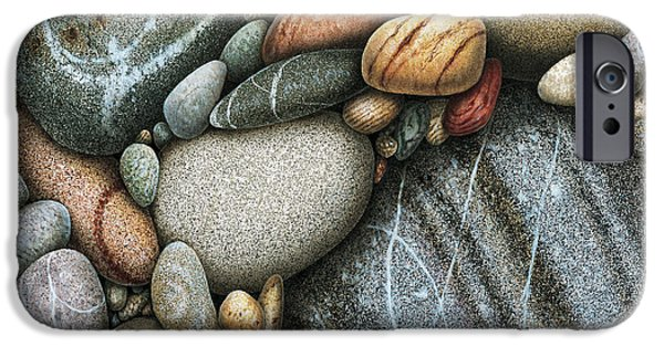 River iPhone Cases - Shore Stones 3 iPhone Case by JQ Licensing