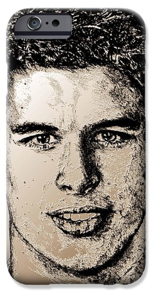 Celebrities Art iPhone Cases - Sidney Crosby in 2007 iPhone Case by J McCombie