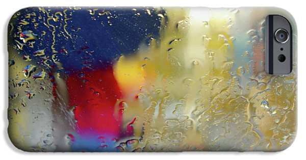 Rain iPhone Cases - Silhouette in the Rain iPhone Case by Carlos Caetano