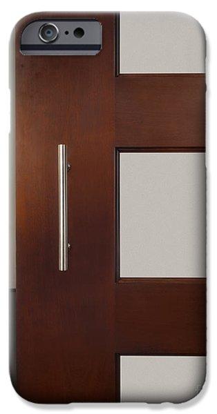 Stainless Steel iPhone Cases - Sliding Door In Upscale Home iPhone Case by Robert Pisano