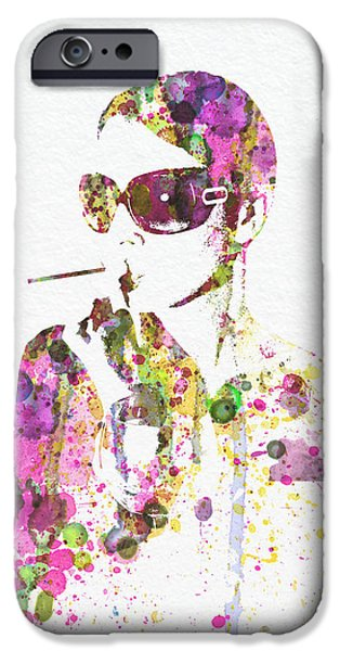 Smoking iPhone Cases - Smoking in the Sun iPhone Case by Naxart Studio