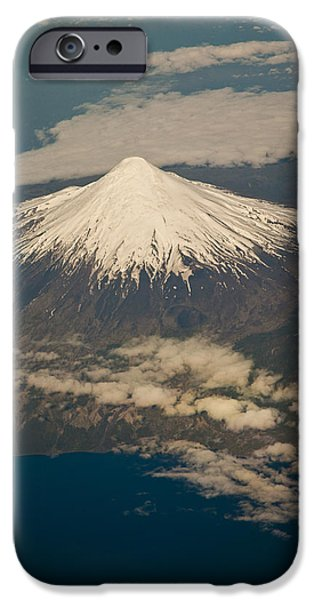 Snowcovered Volcano Andes Chile iPhone Case by Colin Monteath