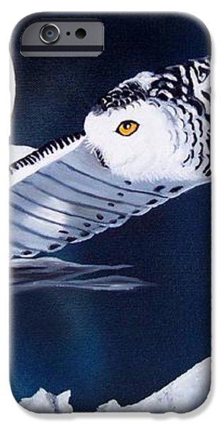 Snowy Flight iPhone Case by Debbie LaFrance