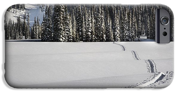 Wintertime iPhone Cases - Snowy Landscape iPhone Case by Ned Frisk