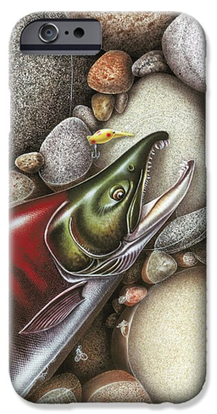Angling iPhone Cases - Sockeye Salmon iPhone Case by JQ Licensing