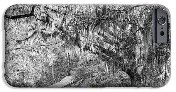 Cabin Window Digital Art iPhone Cases - Southern Shade Selective Color iPhone Case by Al Powell Photography USA