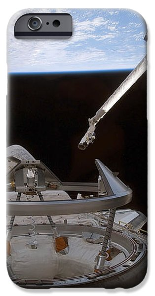 Space Shuttle Discoverys Payload Bay iPhone Case by Stocktrek Images