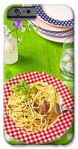 Spaghetti al pesto iPhone Case by Joana Kruse