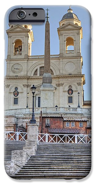 Santa iPhone Cases - spanish steps in Rome iPhone Case by Joana Kruse