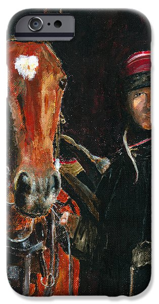 Horse Racing iPhone Cases - Special Bond iPhone Case by Arline Wagner
