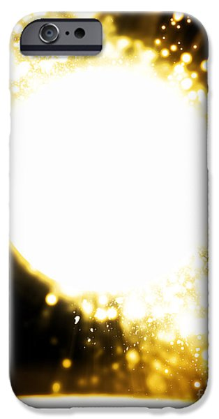Fireworks Digital iPhone Cases - Sphere Lighting iPhone Case by Setsiri Silapasuwanchai