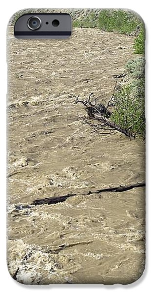 Spring Flood, Nicola River, Canada iPhone Case by Kaj R. Svensson