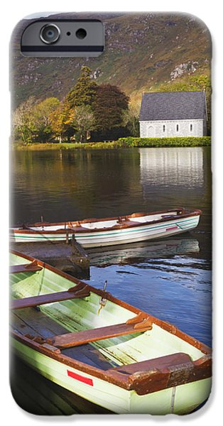St. Finbarres Oratory And Rowing Boats iPhone Case by Ken Welsh