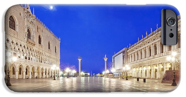 Man Made Space iPhone Cases - St. Marks Square Piazza San Marco iPhone Case by Rob Tilley