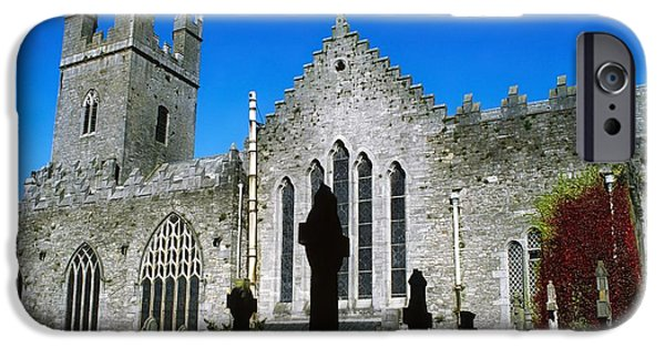 Headstones iPhone Cases - St Marys Cathedral, Co Limerick, Ireland iPhone Case by The Irish Image Collection